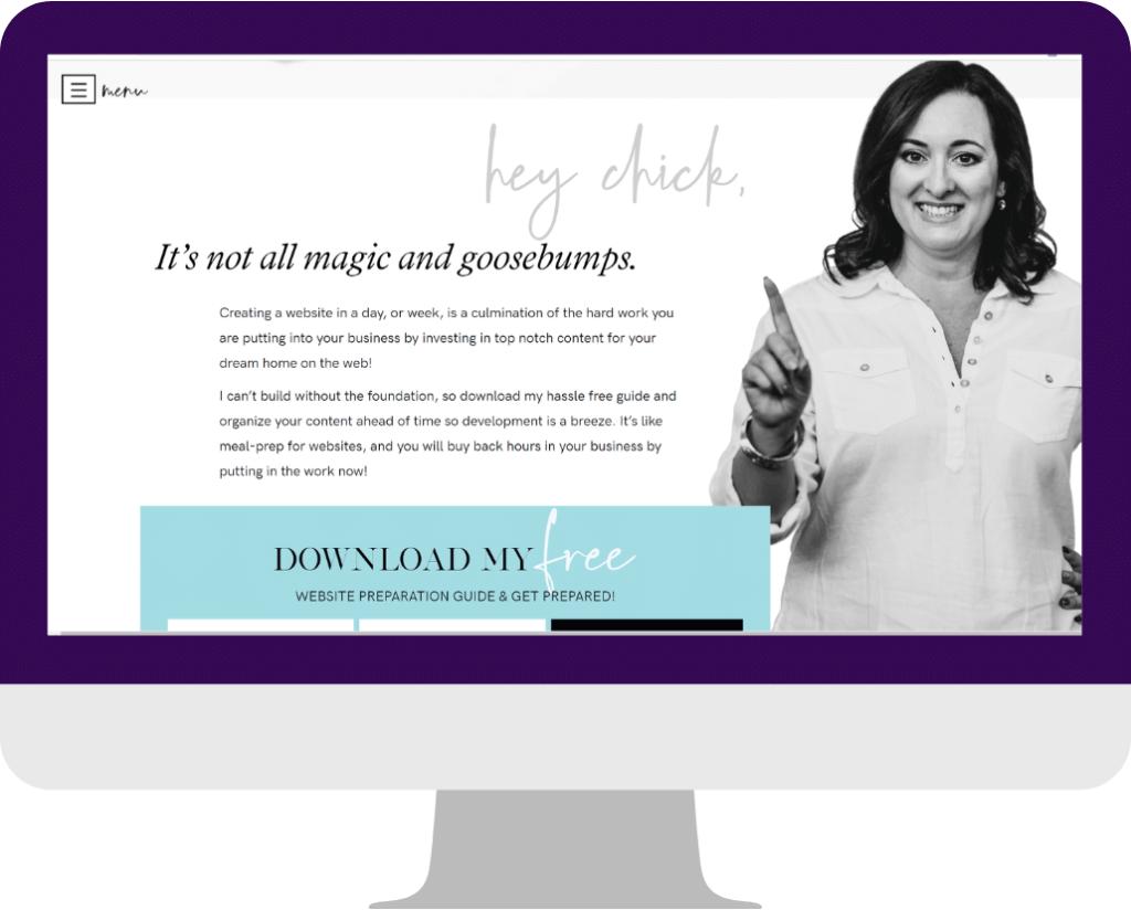 gency website design -Homepage example-Chantal2