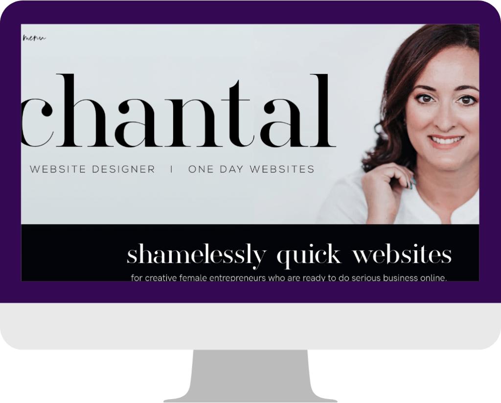 agency website design -Homepage example-Chantal4