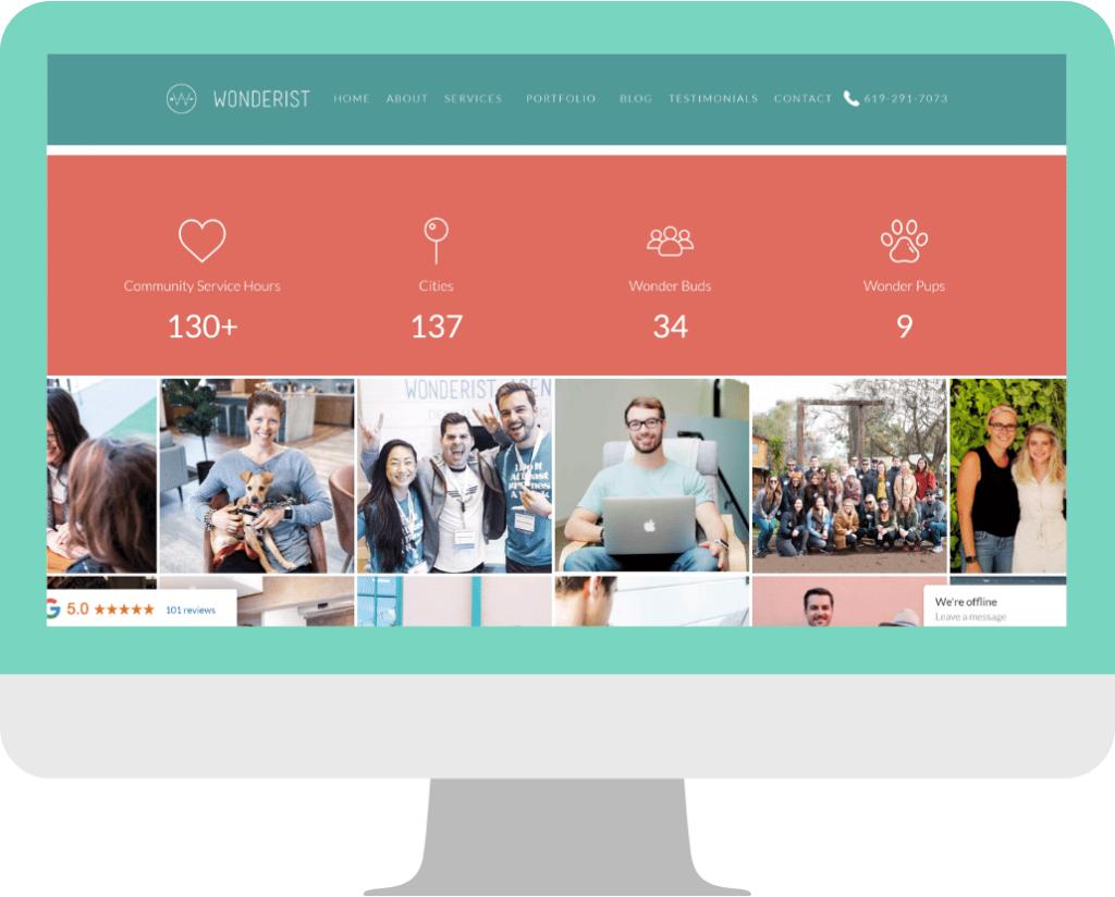 agency website design -Homepage example-Wonderist_Agency2