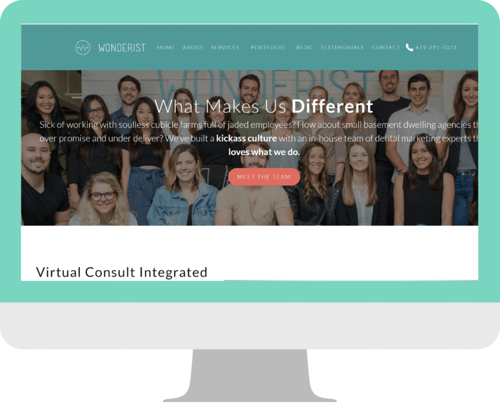 agency website design -Homepage example-Wonderist_Agency3
