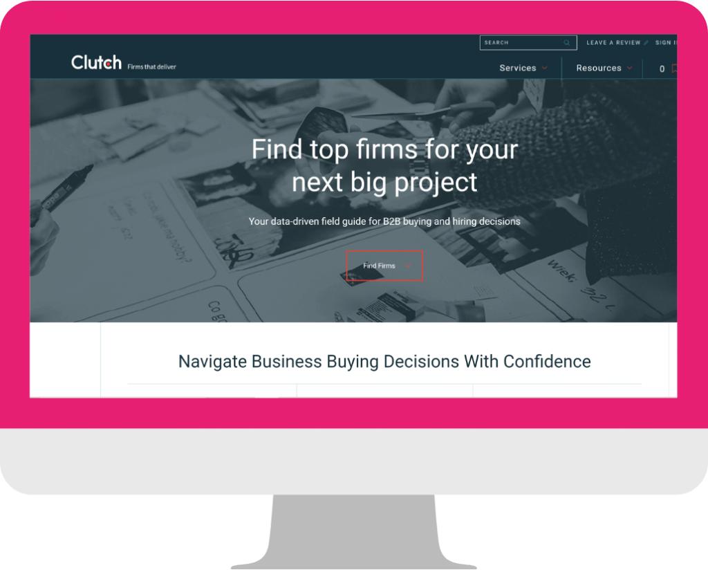 agency website design -Homepage example_Clutch
