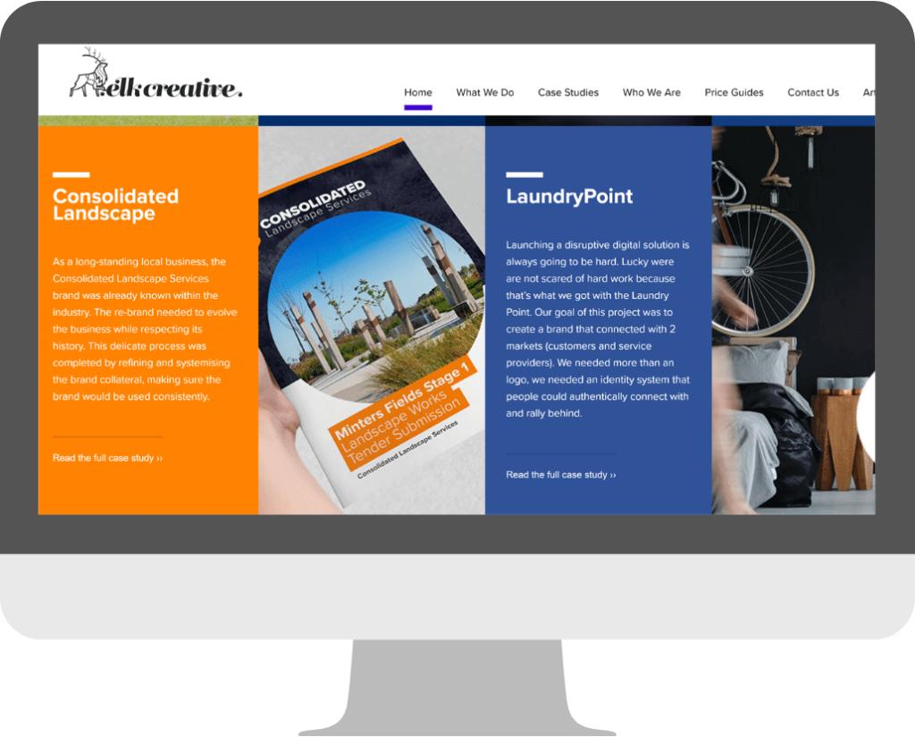 agency website design -Homepage example_Elkcreative4