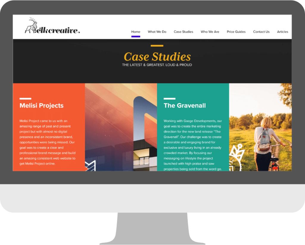 agency website design -Homepage example_Elkcreative5